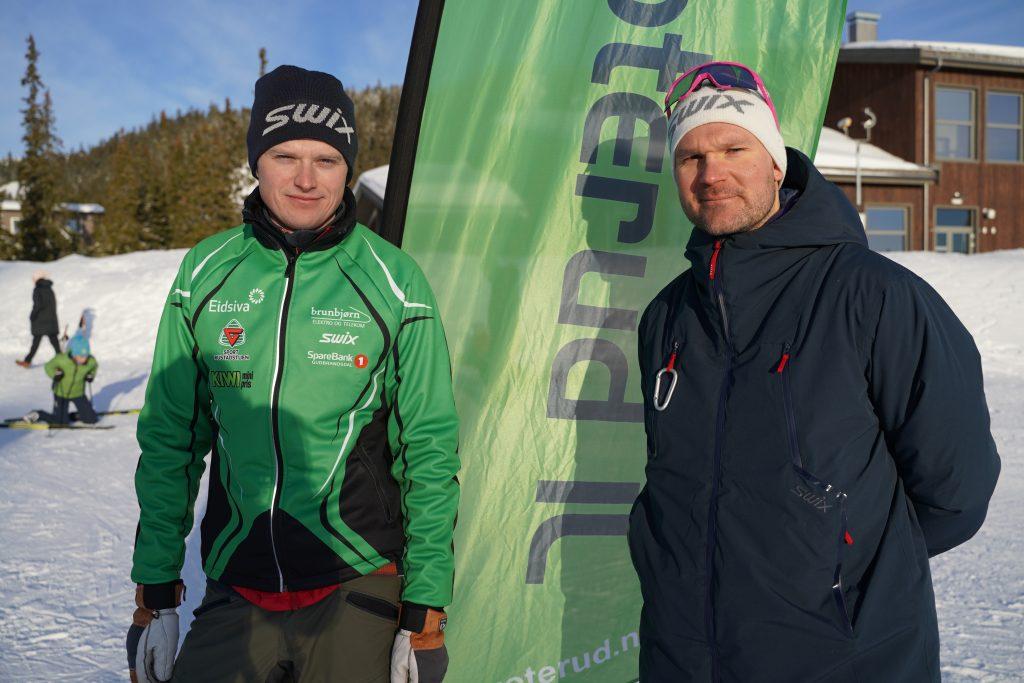 Henrik Johnsen og Øystein Pettersen var strålende fornøyd med forholdene på Natrudstilen.