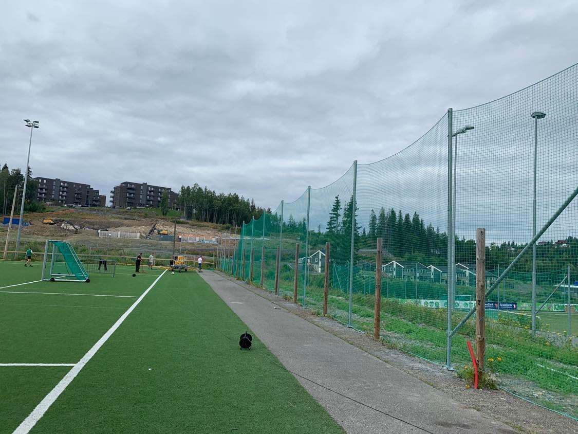 Her kommer det nye klubbhuset. Foto: Leila Øvreseth